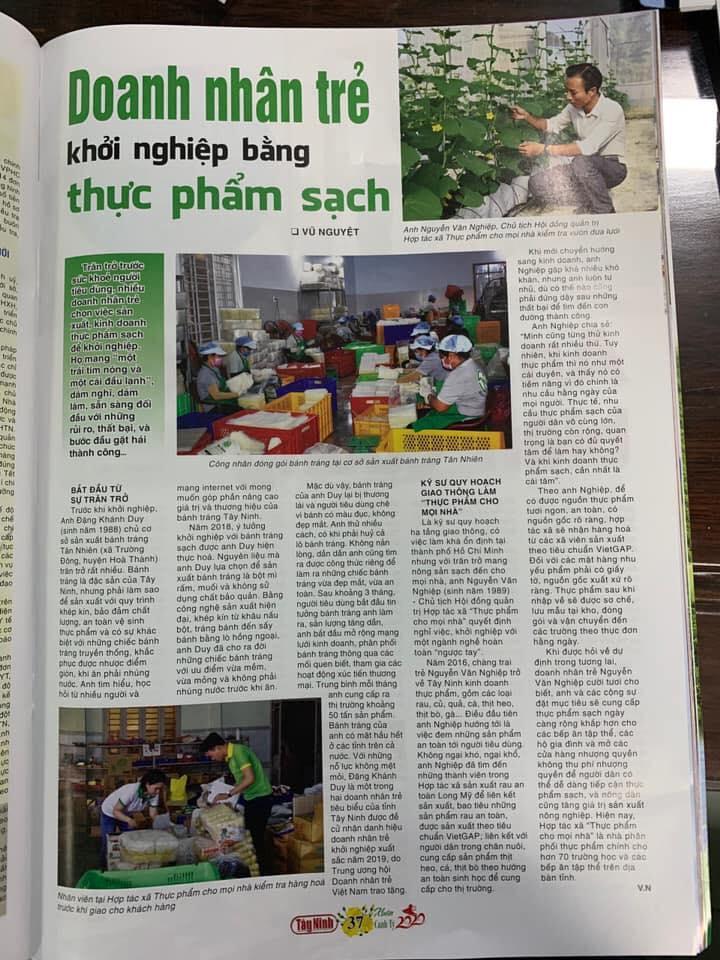 Báo Tây Ninh nói về bánh tráng siêu mỏng Tân Nhiên