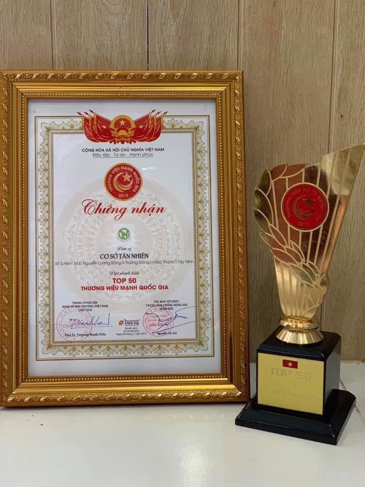 Bánh tráng Tân Nhiên đạt danh hiệu Thương hiệu mạnh 2019